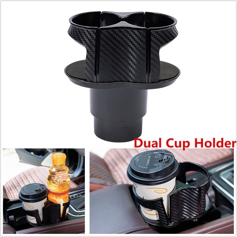 Automotive Black Plastic Drink Can Bottle Adjustable Holder w Suction Cup