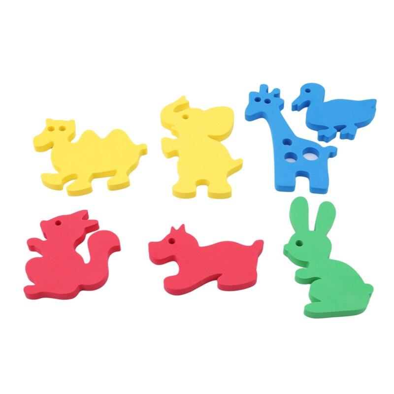Baby Bath Toy EVA Animal Mini Transportation Paste Kindergarten Cognitive Puzzle Jigsaw Bathroom Game Kids Education Toy