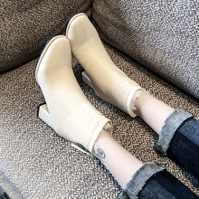Women Boots High Heels Shoes Boots-women Zipper Luxury Designer Booties Ladies Winter Footwear Stiletto 2019 Ankle Rubber(China)