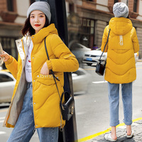 Hot buy 2019 new codes with thick cotton worn clothing fashion wholesale loose sleeves hooded winter coat female 8002