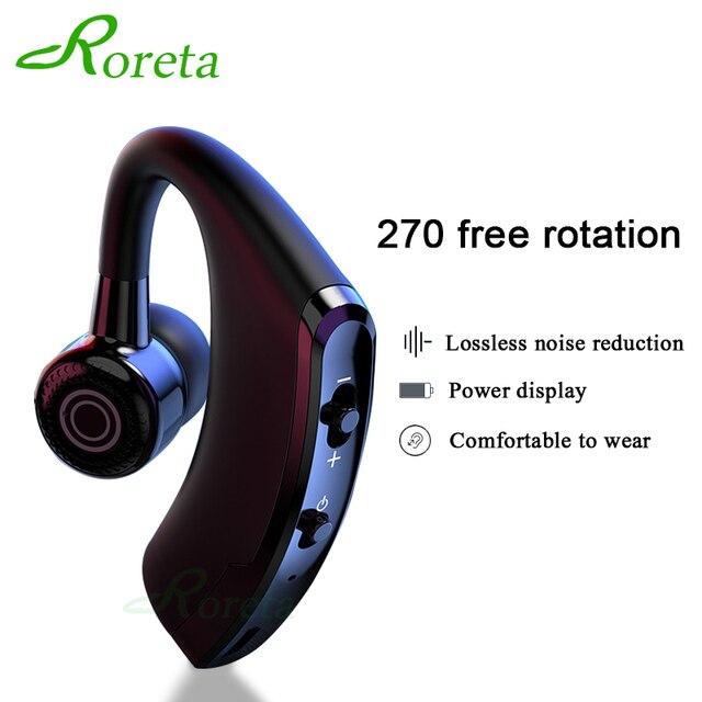 Roreta V9 سماعة لاسلكية تعمل بالبلوتوث سماعة الضوضاء التحكم الأعمال سماعة لاسلكية تعمل بالبلوتوث سماعة رأس مزودة بميكروفون واقي أذن رياضي سماعة الألعاب