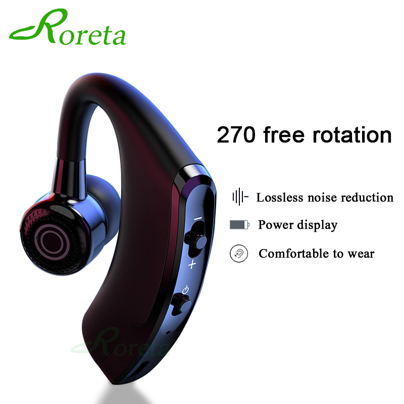 Roreta <font><b>V9</b></font> Wireless <font><b>Bluetooth</b></font> Earphone Noise Control Business Wireless <font><b>Bluetooth</b></font> <font><b>Headset</b></font> With Mic Sports Earbuds Gaming <font><b>Headset</b></font> image