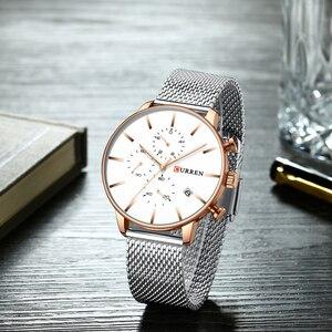 Image 3 - Mens Watches CURREN Fashion Quartz Wristwatch for Men Classic Chronograph Clock Casual Sport  Watch Waterproof Relogio Homem