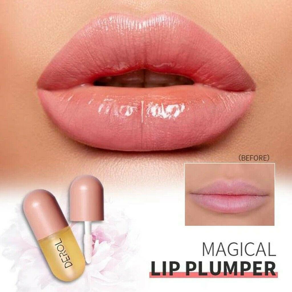 5ml Instant Volumising Lips Plumper Repairing Reduce Lip Fine Lines Mask Long Lasting Moisturizer Care Lip Oil Sexy Plump Serum-1