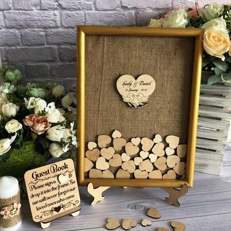 alternitive wedding guest book//guestbook unusual//drop box guest book//rose gold wedding//wooden heart drop box//rose gold guestbook
