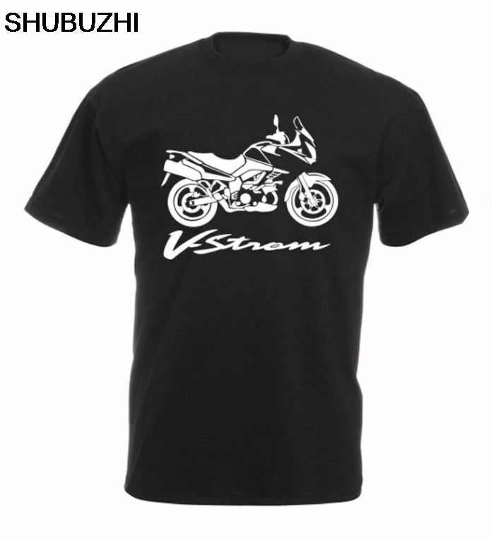 Cotton Suz Vstrom <font><b>V</b></font> <font><b>Strom</b></font> <font><b>Dl</b></font> <font><b>1000</b></font> Motorcycle shubuzhi Fashion Brand Men'S Tops Street Wear Slim Fit Shirts image