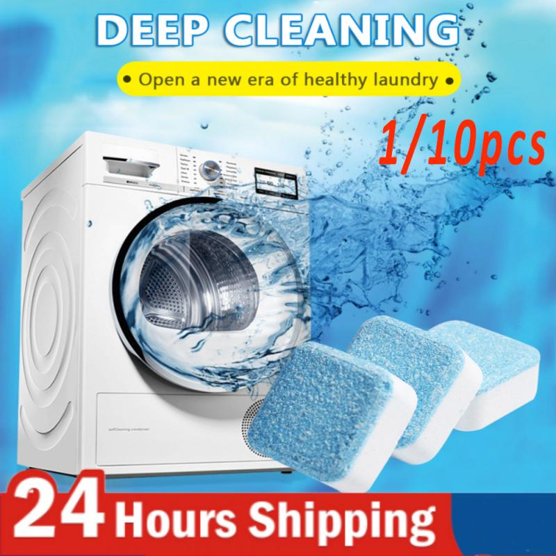 10 Pcs Tab Washing Machine Cleaner Washer Cleaning Detergent Effervescent Tablet Washer Cleaner For Dropshipping Cleaning Tool 1