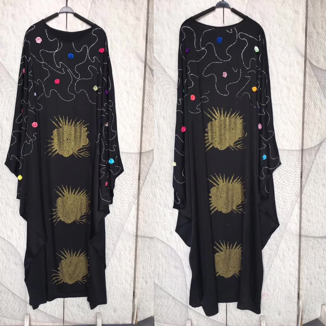 Image 5 - African Dresses For Women 2019 New African Women Clothing Fashion Africaine Robe Long Loose Maxi Dress Africa Clothes-in Africa Clothing from Novelty & Special Use