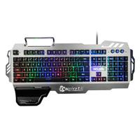 PK 900 Gaming Keyboard RGB Mixed Color Backlight 7pin Computer Keyboards with Mobile Phone Stand Holder for PC Laptop Desktop