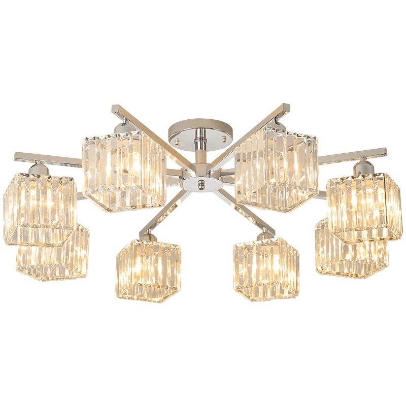 Современная хрустальная люстра для гостиной столовой лампа украшения для домашнего интерьера спальни Хрустальная светодиодная люстра