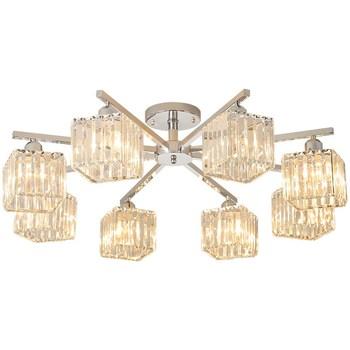 Nowoczesny kryształowy żyrandol do salonu lampa do jadalni dekoracja do wnętrza domu sypialnia światła kryształ lampa LED żyrandol tanie i dobre opinie meigheiath Pokrętło przełącznika Nowoczesne Żarówki led W górę iw dół ROHS Żyrandole Chrome Modern Crystal Chandelier