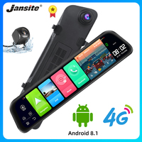 Jansite 12 4G Wifi Touch Screen Car DVR Android 8.1 GPS Navigation ADAS Dash camera Recorder Rearview mirror with Backup camera
