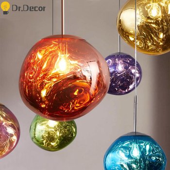Modern Design Lava LED Pendant Lights Loft Pendant Lamp Kitchen Fixtures Villa Stairs Duplex Apartment Living Room Indoor Decor