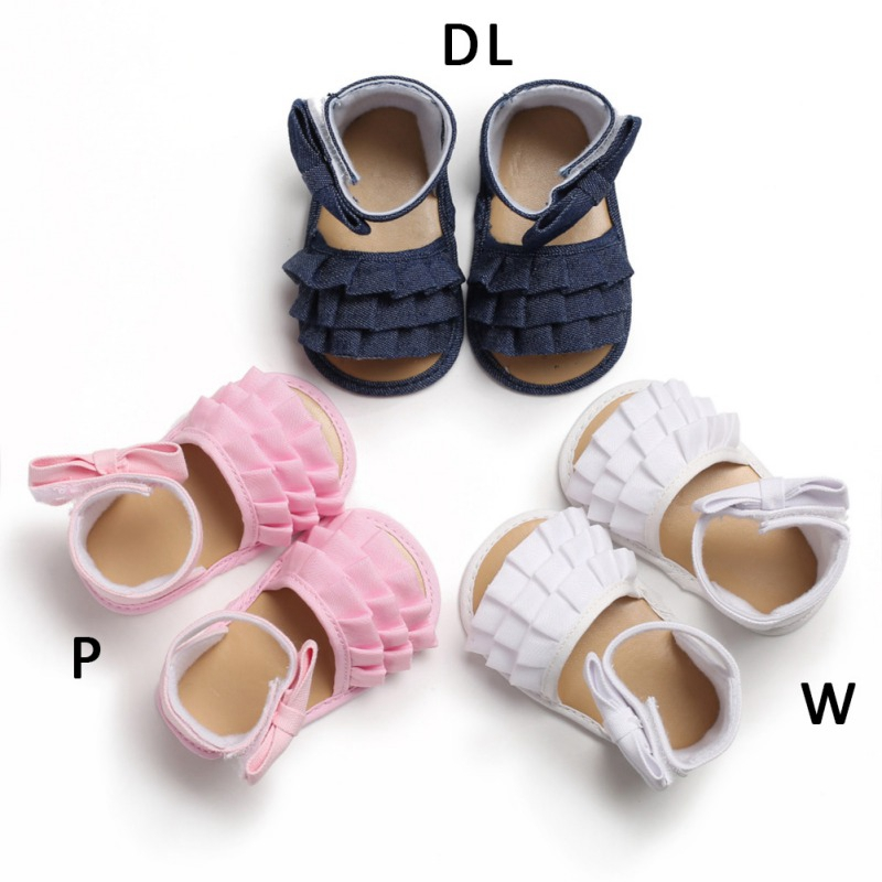 Summer New Toddler Baby Girl Crib Breathable Anti-Slip Bowknot Sandals Soft Soled Lovely And Charming Design Available Shoes
