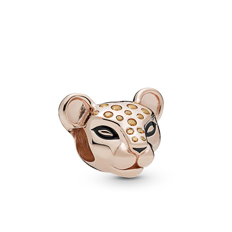 High Quality Crystal Gold Color Trendy Tiger Beads Fit Original Pandora Charms Beads for Women Birthday Gift Making Jewelry(China)