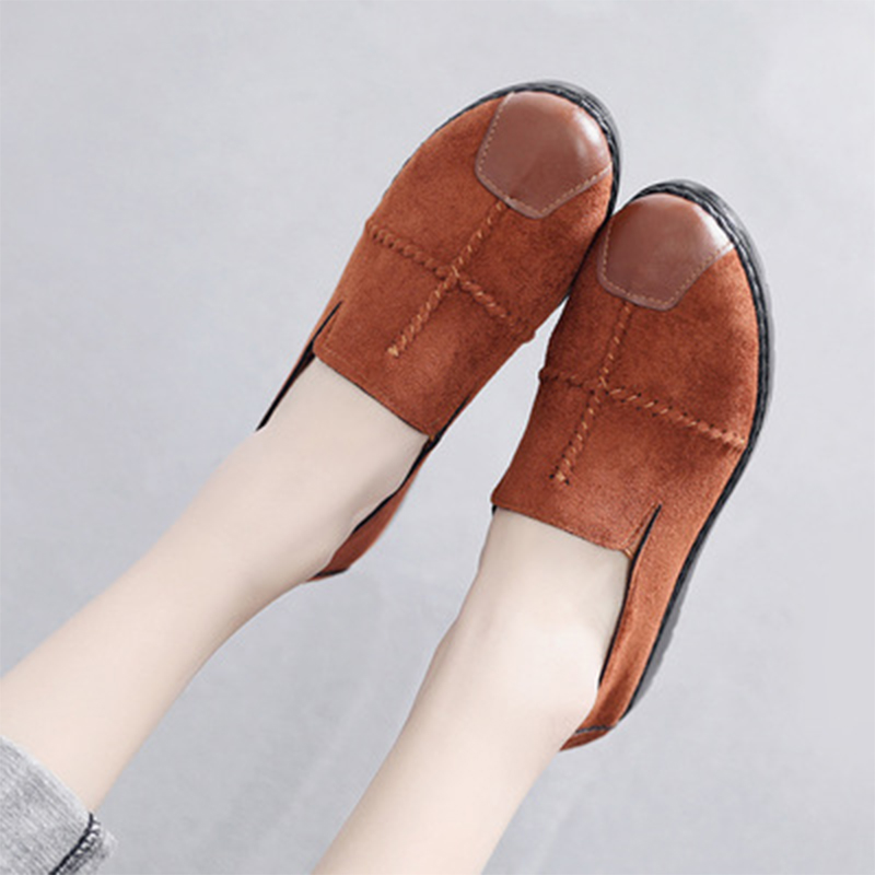 Loafers Women Flats Woman Slip On Walking Shoes Sewing Round Toe Comfortable Woman Footwear 2020 Fashion Plus Size