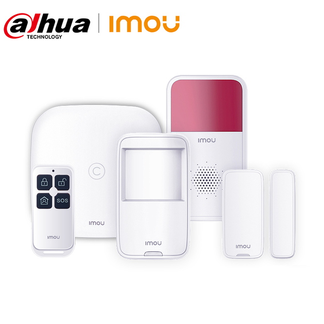 Dahua Imou Smart Alarm System with Alarm Station Motion Detector Door Contact Siren Remotel Control Smart Home Security Solution