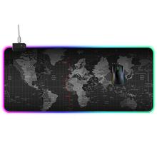 Duża mysz podkładka RGB podkładka pod mysz do gier dla graczy Gamer podkładka pod mysz komputerowa z podświetleniem RGB komputerowa mysz komputerowa Mause pad duża podkładka pod mysz na biurko klawiatura LED podkładka pod mysz cheap WayWalkers RUBBER XA-001 Ochrona przed promieniowaniem Zdjęcie 70*30 80*40 90*40 100*50cm 35*30cm 40*30 70*30 80*30 90*30cm