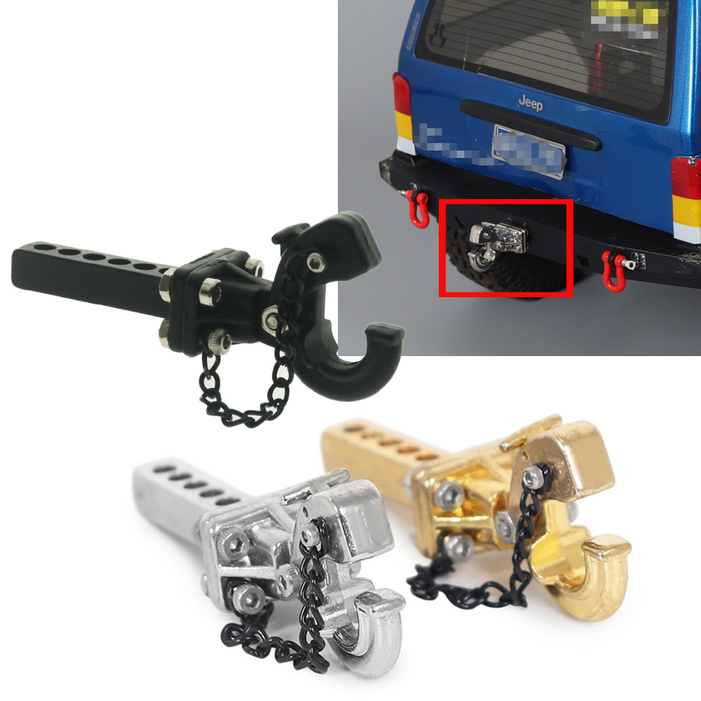 Black Hobbypark 1//10 RC Crawler Trailer Hook Metal Tow Shackle for Axial SCX10 90046 RC4WD D90 Traxxas TRX-4 Redcat Gen7