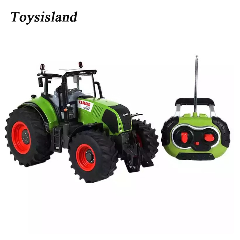 1/16 Farm Tractor RC Truck 2.4GHz Remote Control Vehicle Trailer Simulation Engineering Cars Toys For Children Gift