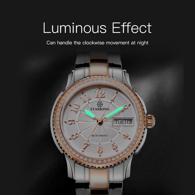 STARKING Women Mechanical Watch Miyota Movt Stainless Steel Wristwatch Sapphire Automatic Self-wind Bracelet Relogios Femininos 3