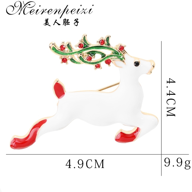 Meirenpeizi Merry Christmas Brooches Pins Cute Santa Claus Hat gloves Bells Socks Donuts Candy Enamel Pin Badges Brooch 3