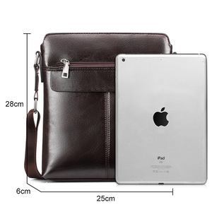 Image 5 - Retro Men Satchels Crossbody Bags Business Small Briefcase Shoulder Bag Man Luxury Brand Casual Messenger Bag Male Pu Leather