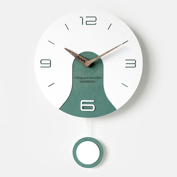 Creative Simple Wall Clock Wooden Simple Nordic Living Room Wall Clock Quartz Silent Zegarek Na Sciane Home Decoration DD60WC