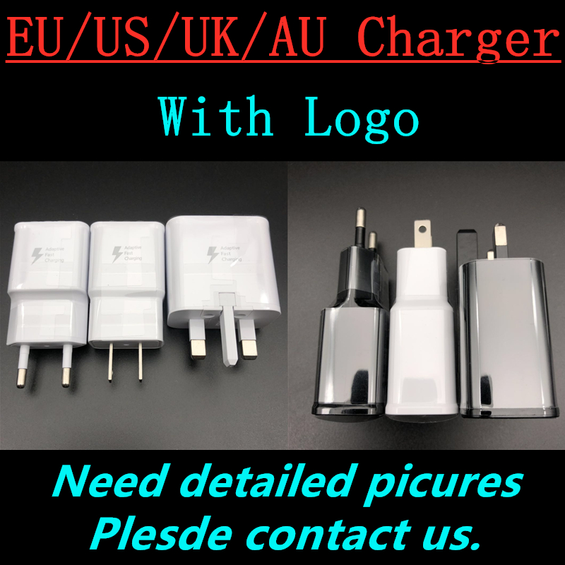 100pcs/lot Original 9V-1.67A <font><b>5V</b></font> 2A US/EU/AU/UK Plug Fast Charging Travel adapter Wall Fast <font><b>Charger</b></font> For S6 S7 S8 S9 plus Note 5 8 image
