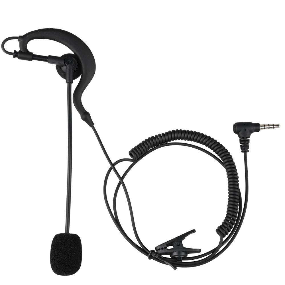 Fodsports V4 V6 Pro Intercom Headphone For Football Referee Coach Judgers Professional Full Duplex Two-way Interphone Earhook