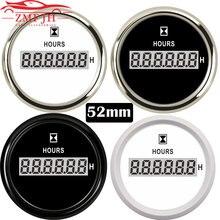 Uniwersalne cyfrowe mierniki godzin 52mm LCD licznik godzin dla łódź morska Auto Yacht Car 0 99999.9H wodoodporny zegar Gauge 9 32V