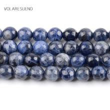 Natural Faceted Sodalite Stone Round Loose Beads For Jewelry Making 6-10mm Spacer Beads Fit Diy Bracelet Necklace 15'' Strand цена