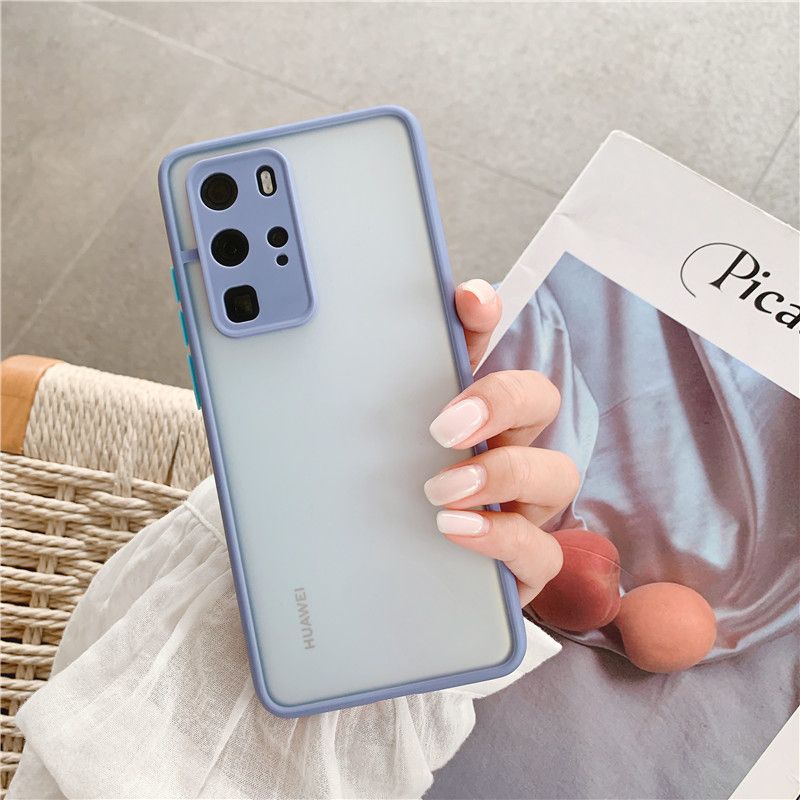 Shockproof  Phone Case Back Cover For Huawei P40 Pro Luxury Translucent Soft Case For Huawei P40 P30 Pro Mate 30 20 Pro Case (14)