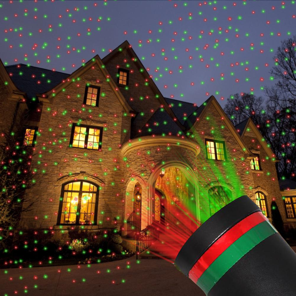 Christmas Moving LED Laser Projector Starry Sky Projection Light Party Home Stage Light Outdoor Waterproof Garden Decoration