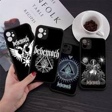BEHEMOTH DEATH METAL BAND Logo Phone Cases Transparent Matte for iPhone 7 8 11 12 s mini pro X XS XR MAX Plus cover funda