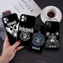 Behemoth Death Metal Band Logo Telefoon Gevallen Transparante Matte Voor Iphone 7 8 11 12 S Mini Pro X Xs xr Max Plus Cover Funda