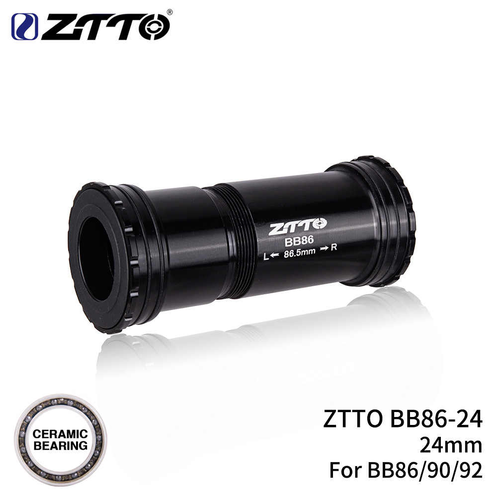 Ztto bb86 24mm cerâmica bb92 bb90 imprensa ajuste suportes inferiores thread lock para bicicleta de estrada mountain bike 24 eixo cárter chainset