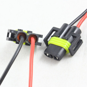 Image 5 - FSYLX H8 H11 H27 881 LED socket H8 H9 H11 male connector H11 881 LED Bulb holder Wire Harness H11 Connector Wiring sockets