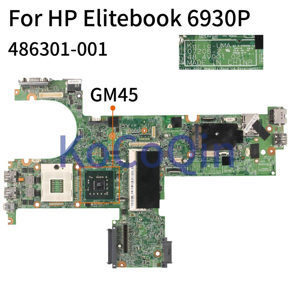 KoCoQin 486301-001 486301-501 Laptop Motherboard For HP Elitebook 6930P 07208-2 48.4V901.021 Mainboard GM45