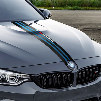For BMW e46 e90 e60 e39 f30 f10 e36 e87 x5 e70 e91 g30 Car Hood Stickers Vinyl Stripe Stylish Automobiles Tuning Car Accessories image
