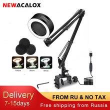NEWACALOX – appareil de fumage d'échappement de soudure réglable, avec USB, 3 couleurs, lumière LED, ventilateur de filtre à Air pour soudage