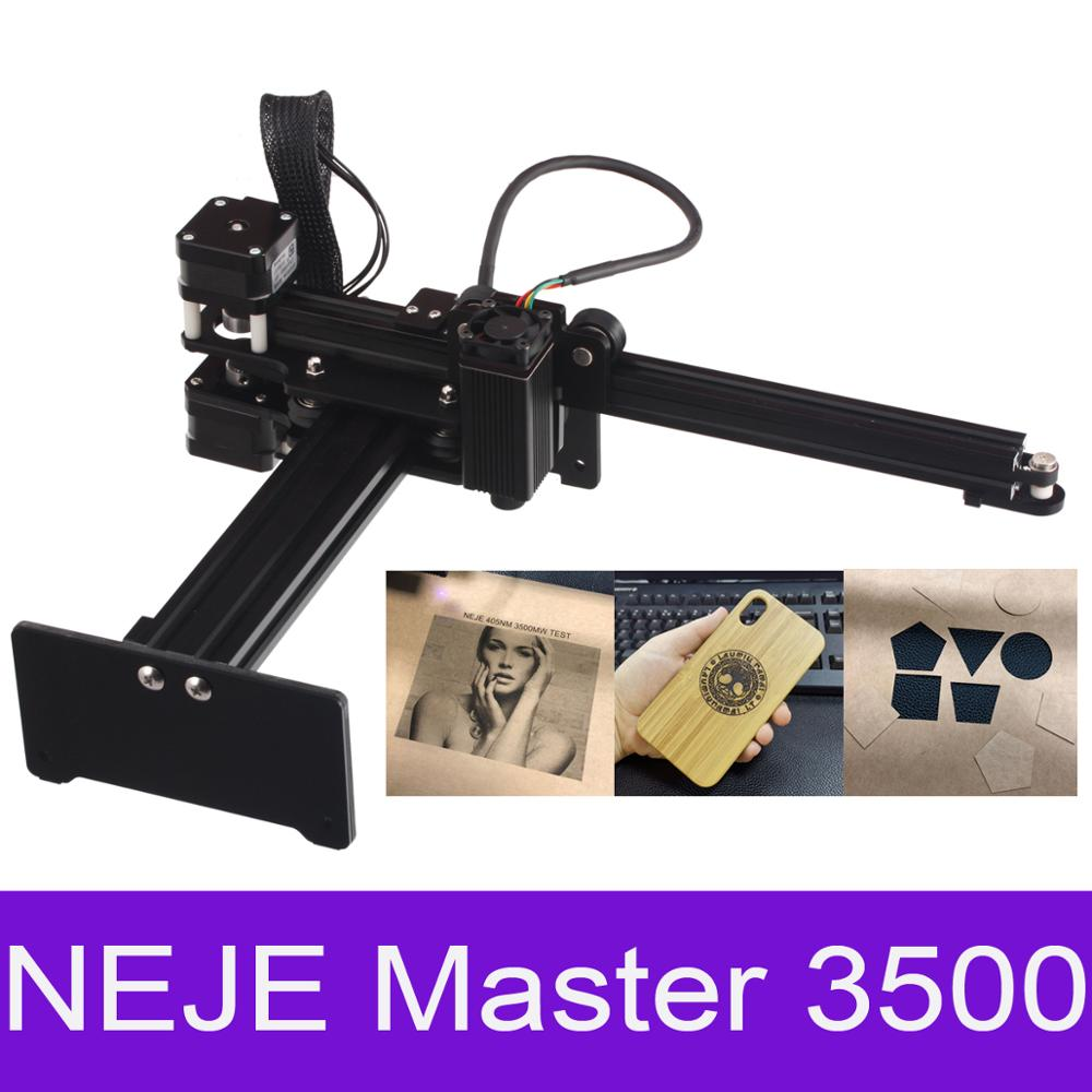 NEJE Master 3500MW 43*27cm Mini Machine de gravure Laser 2 axes bricolage graveur bureau bois routeur/Cutter/imprimante + lunettes Laser