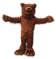 Halloween Long Fur Brown Bear Mascot Costume Suits Cosplay Party Dress Outfits Clothing Advertising Promotion Carnival Adults