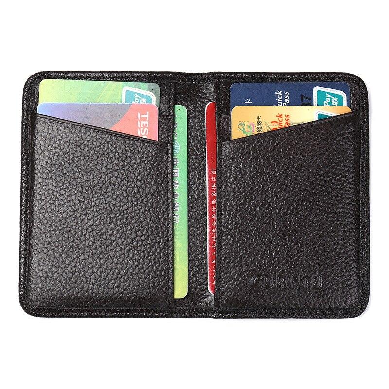 Ultrafinos Estojo de couro Pacote de Cartões de RFID anti Defesa Digitalização Genuíno Conjunto De Cartão De Couro Antimagnético Pacote Cartão Bancário Cartão de Crédito