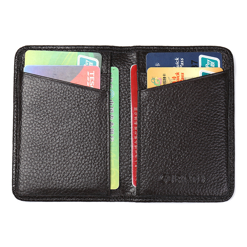Cowhide RFID Anti Card Package Ultrathin Antimagnetic Defence Scanning Genuine Leather Card Set Bank Card Credit Package
