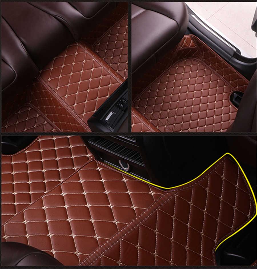 SJ รถทุกสภาพอากาศ Mats ชั้นสำหรับ Ford EcoSport EDGE Escape KUGA Explorer F150 Fiesta Focus Mondeo Mustang Taurus 2006-19