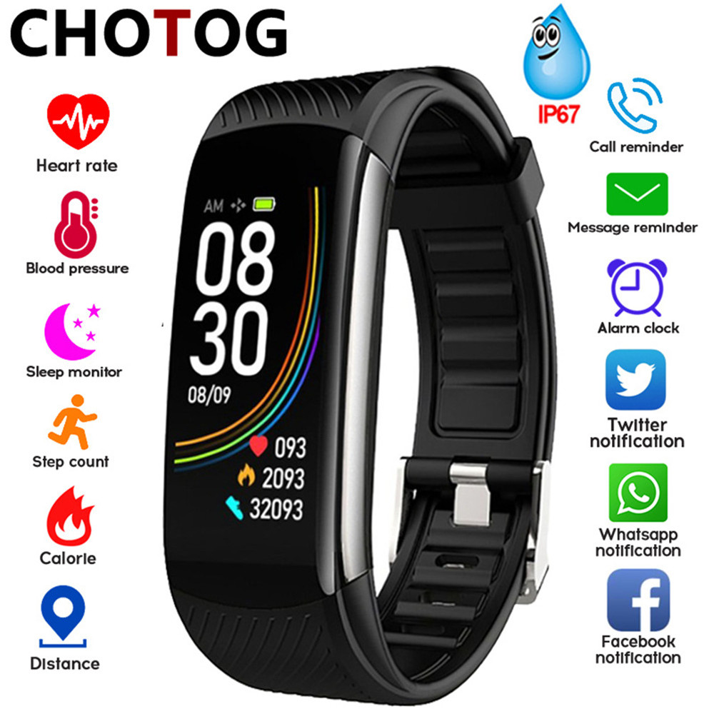 Fitness Tracker Waterproof Ip67 Smart Fitness Bracelet Blood Pressure Heart Rate Monitor Sport Smart Band Watch For Android IOS
