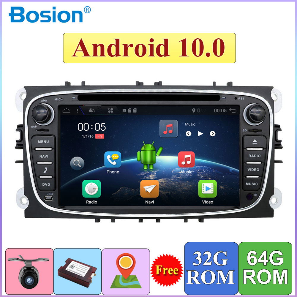DSP 2 Din Android 10.0 Car DVD Multimedia Player GPS Navi For Ford For Focus 2 Mondeo Galaxy Wifi Car Audio Radio Stereo Unit(China)