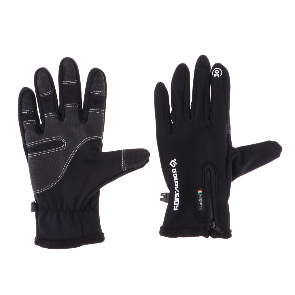 Теплые ветрозащитные противоскользящие велосипедные перчатки с сенсорным экраном для мужчин и женщин, зимние ветрозащитные перчатки для к...