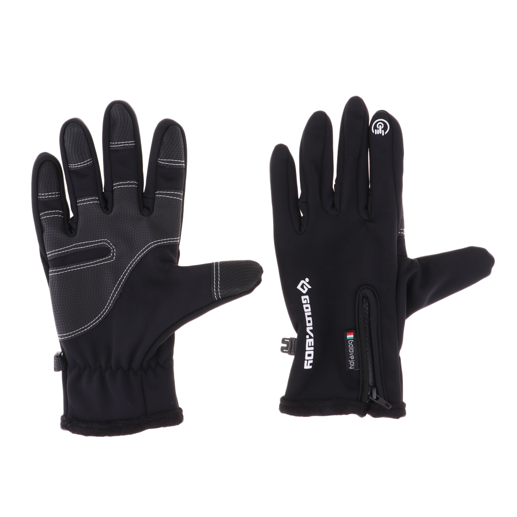 Thermal Warm Windproof Anti-slip Bike Touch Screen Gloves Men Women Snow Windproof Camping Cycling Goloves